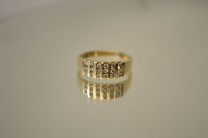 9ct Gold Fancy Diamond Ring